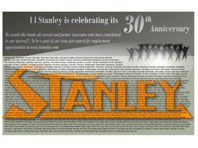 I I Stanley 30th Anniversary