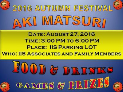 I I Stanley 2016 Aki Matsuri Japanese Fall Festival